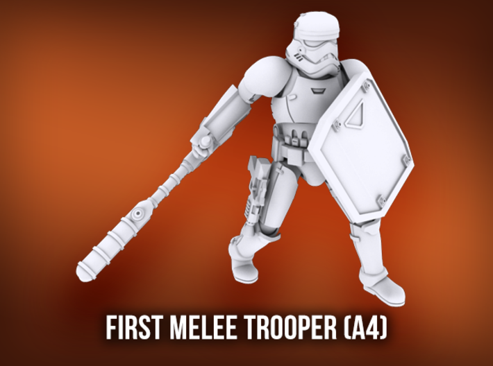First Melee Trooper A4 3d printed