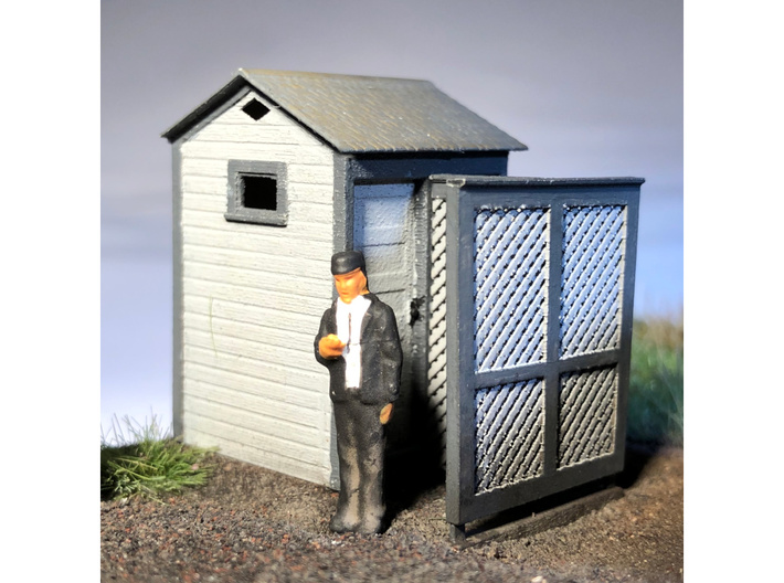 HO Great Northern Double Privy 3d printed Actual model with privacy screen