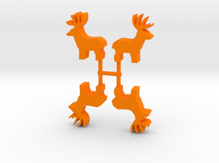 Deer Buck Meeple, standing, 4-set 3d printed