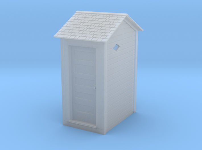 HO Great Northern Single Privy with Vent Screens 3d printed Shapeways Render