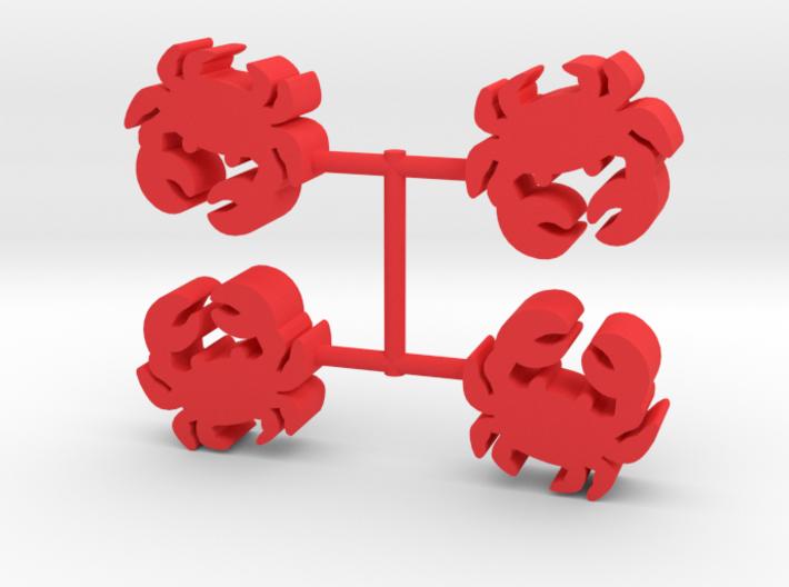 Crab Meeple, 4-set 3d printed