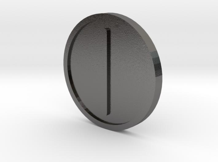 Isaz Coin (Elder Futhark) 3d printed