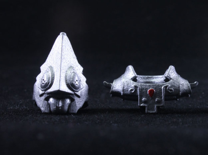 Usurper Headpiece 3d printed Painted Smooth Fine Detail Plastic