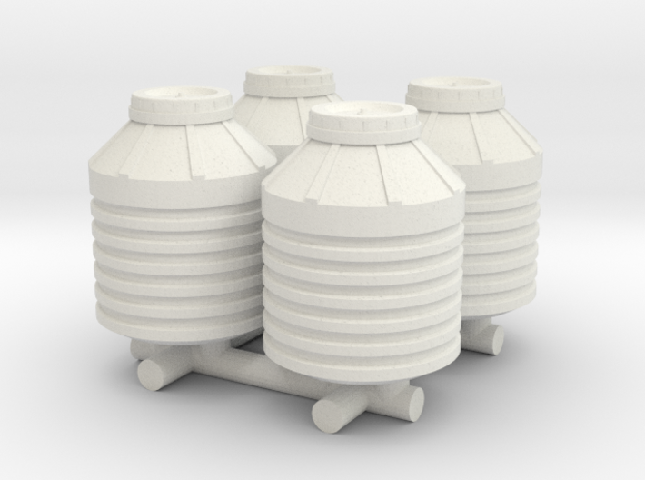 1-87 Scale Water Storage Tanks 3d printed