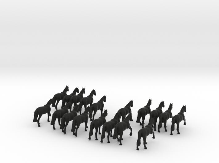 '20mm' Horses 3d printed