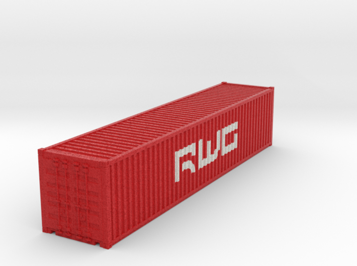 40 Foot Container Ver01.3 COLOR N 3d printed