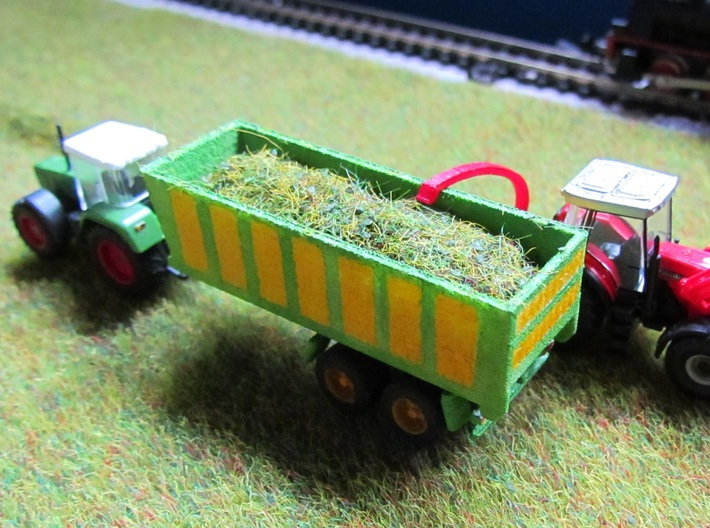 1:160/N-Scale Silage Trailer 3d printed Add a caption...