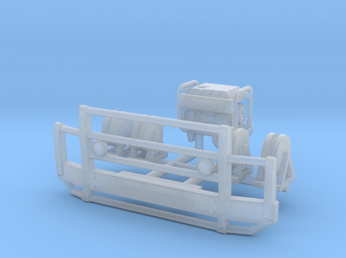 1/100 Bullbar bumper w generator & Wire reels 3d printed