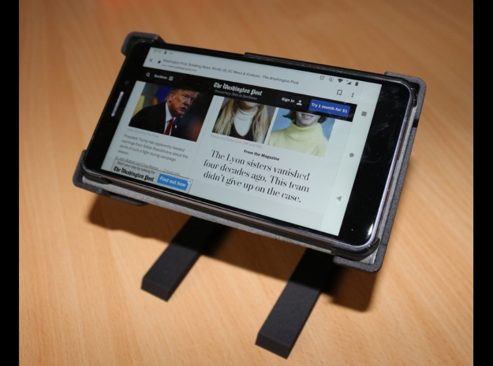 Rotary support for smartphones (example) 3d printed Oriented horizontally