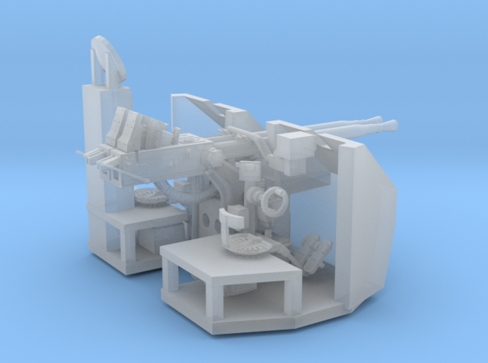 1/72 RN Twin 40mm Bofors AA Gun 3d printed