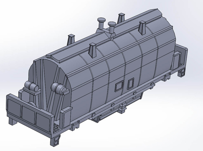 1967 NSC 35' Ore Hopper ONT in N Scale 3d printed Perspective Top View