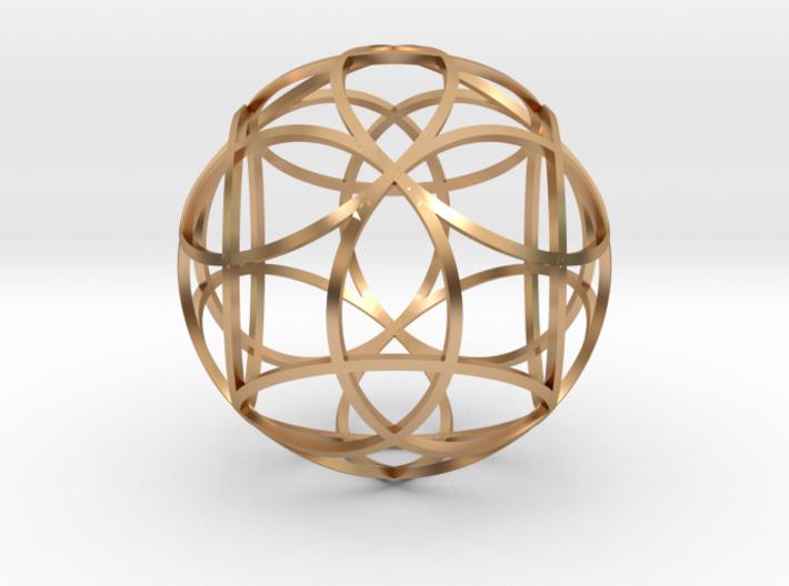 flower-12 rings 3d printed