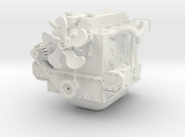 6C DIESEL ENGINE COMPLETE ONE16 CUSTOMS 3d printed