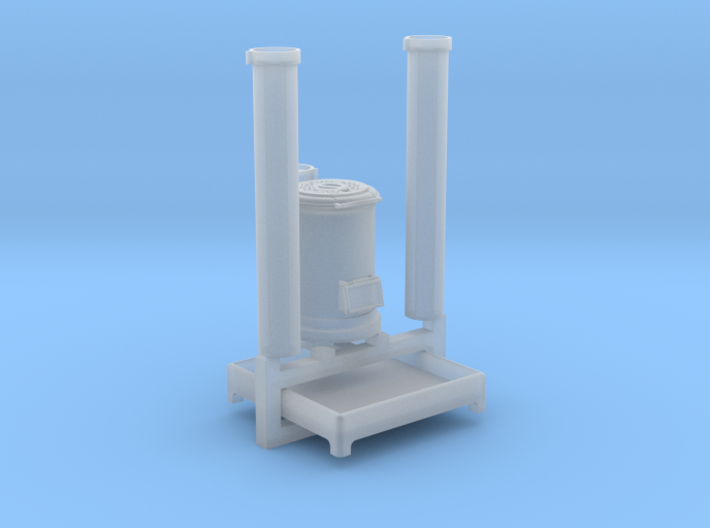 EP730 Cast Iron Stove & flue pipes 3d printed
