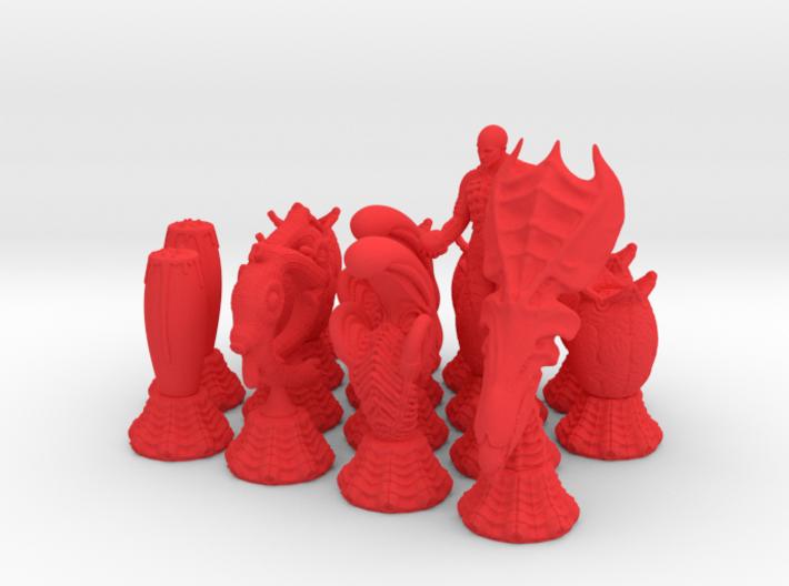 Alien Chessmen 3d printed