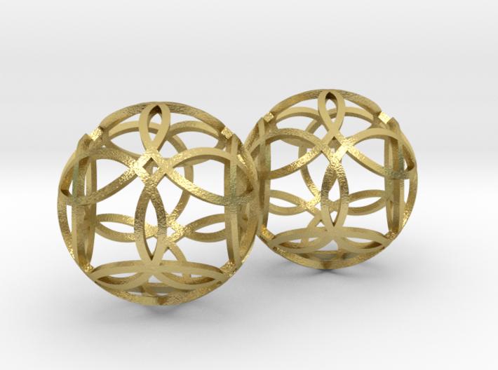 flower earrings 3d printed