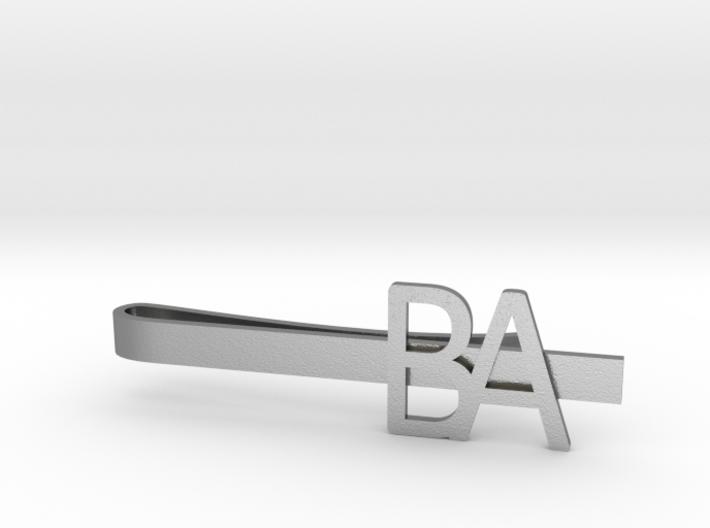Custom Initial Tie Clip 3d printed