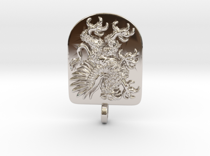 Griffin Heraldic Coat of Arms Pendant. 3d printed Griffin Heraldic Coat of Arms Pendant
