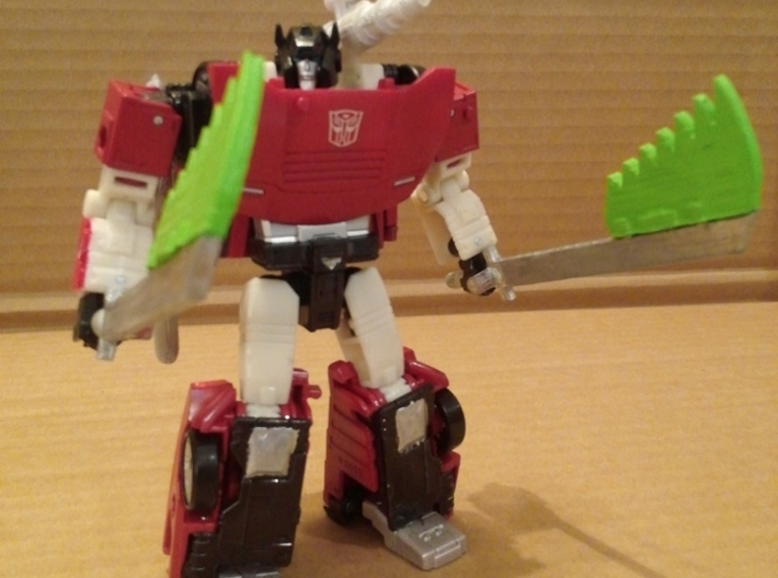 Transformers WFC Siege Sideswipe Swords 3d printed