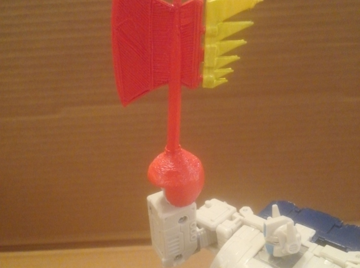 Transformers WFC Siege Axe 3d printed