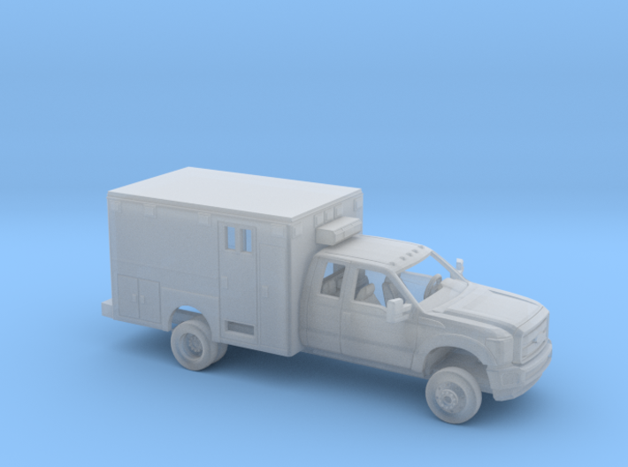 1/87 2011-16 Ford F Series Ext Cab Ambulance Kit 3d printed