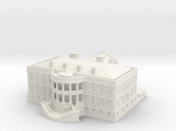 The White House 1/1000 3d printed
