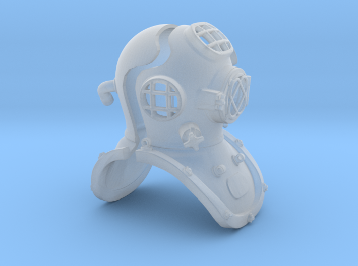 12th scale diving helmet 3d printed