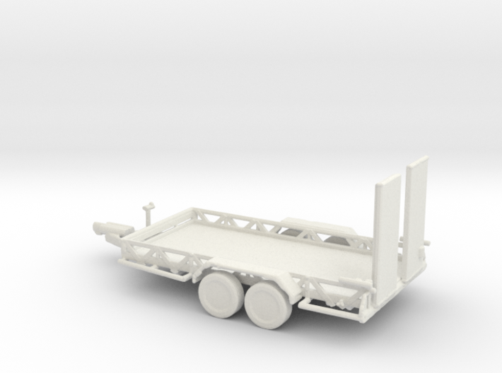 O Scale Car Trailer 3d printed This is a render not a picture