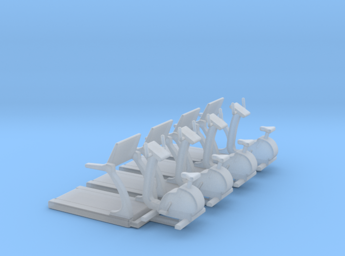 HO Scale Fitness Equipment 8pc 3d printed
