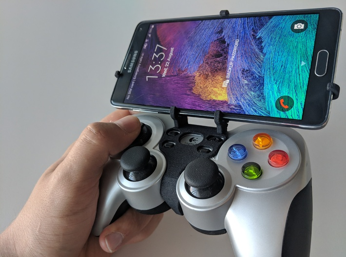 Logitech F710 & Samsung Galaxy Fold - Front Rider 3d printed Front rider - full view
