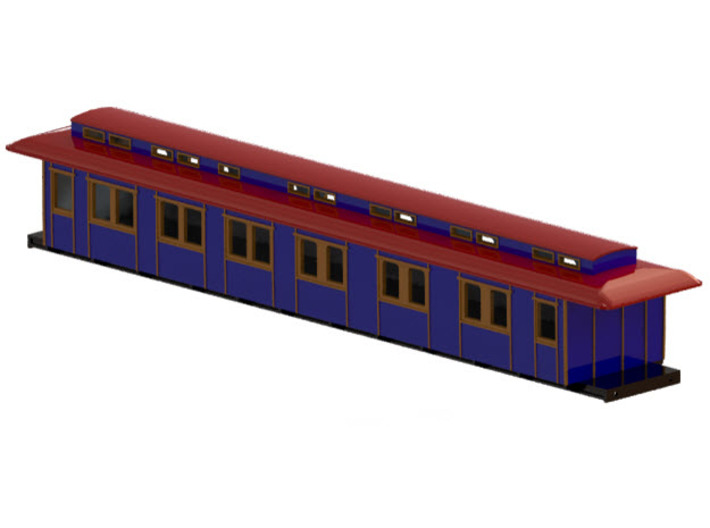ABo1 modell 91 - Swedish passenger wagon 3d printed CAD-model