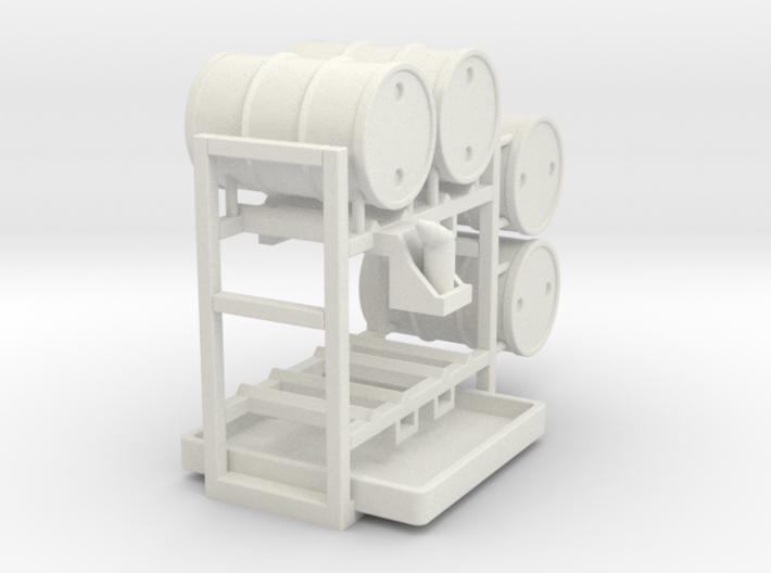 Drum storage rack - 1:50 3d printed