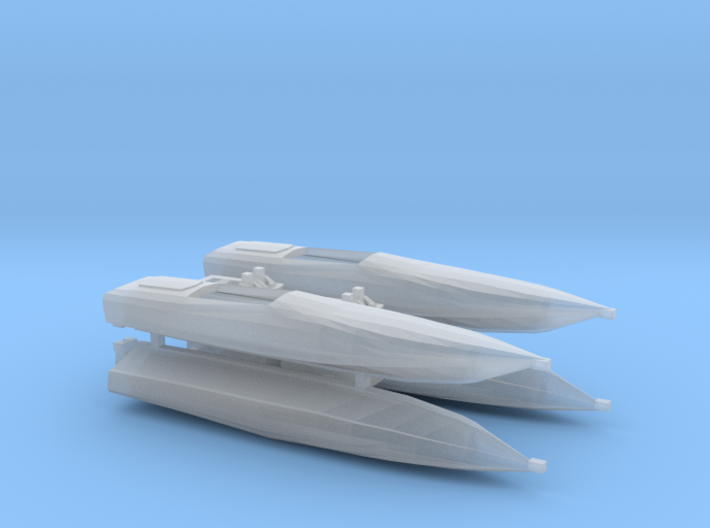 1:350 Cigarette Boats, full hull version 3d printed