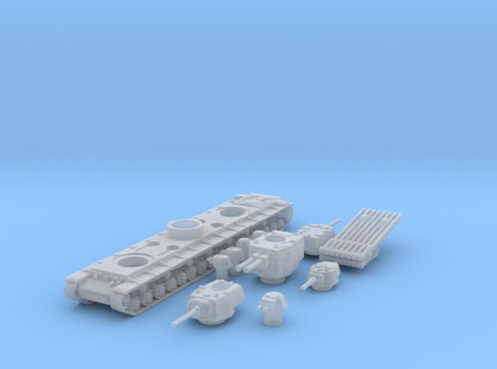 kv 6 scale 1/285 3d printed
