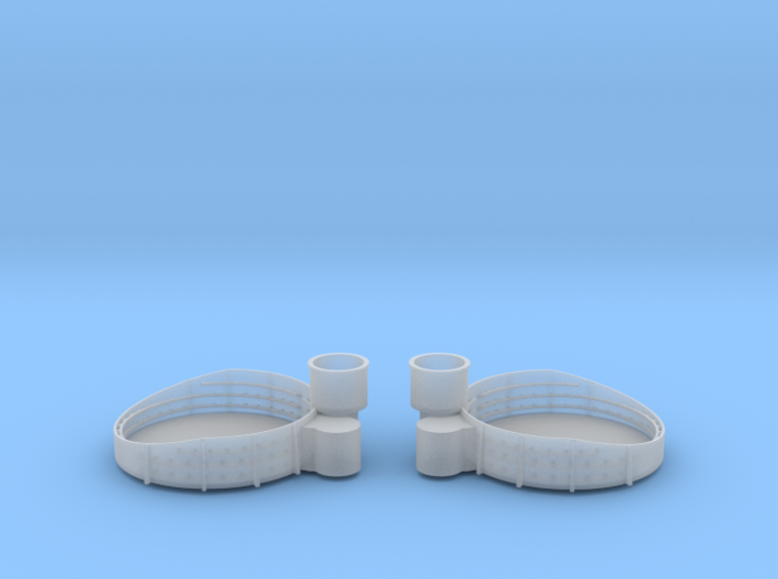 1/192 USN Iowa 40mm Quad Gun Tub Fore Sup. Set 3d printed
