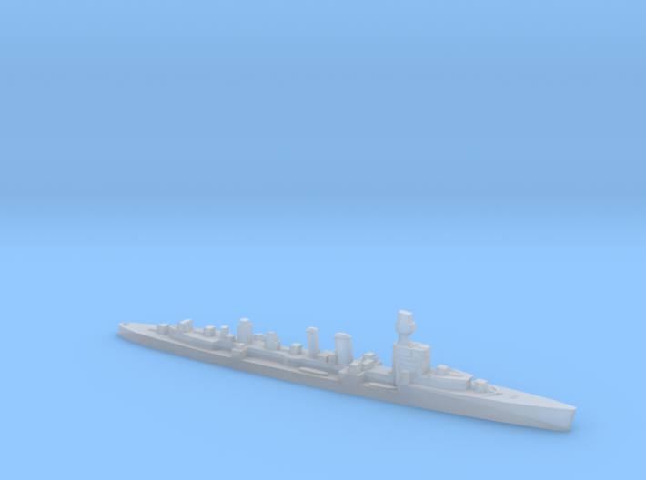 ORP Conrad formally HMS Danae 1:2400 WW2 cruiser 3d printed
