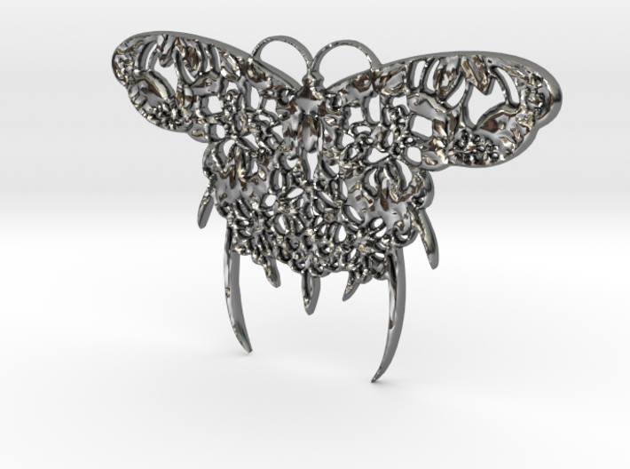 Japanese Butterfly Pendant 3d printed