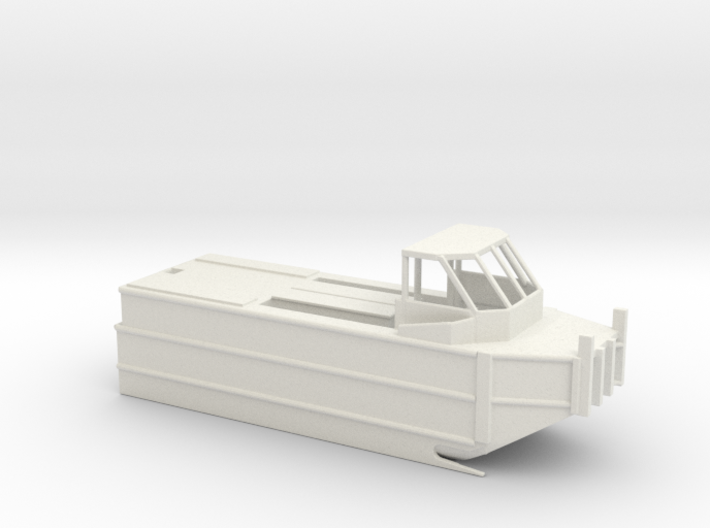 1/100 Scale Army Bridge Erection Boat 3d printed