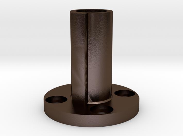 Steel Nut Coupler - t5 Leadscrew to NEMA 23 Worm G 3d printed