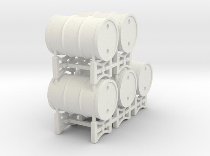 Drum rack with 5 drums - 1:50 3d printed