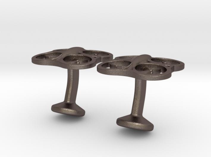 Drone Cufflinks 3d printed