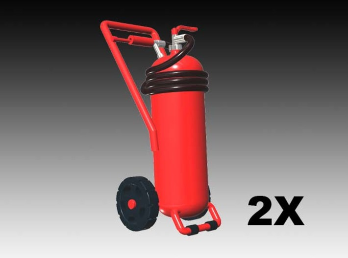 Wheeled fire extinguisher - 1:50 - 2X 3d printed