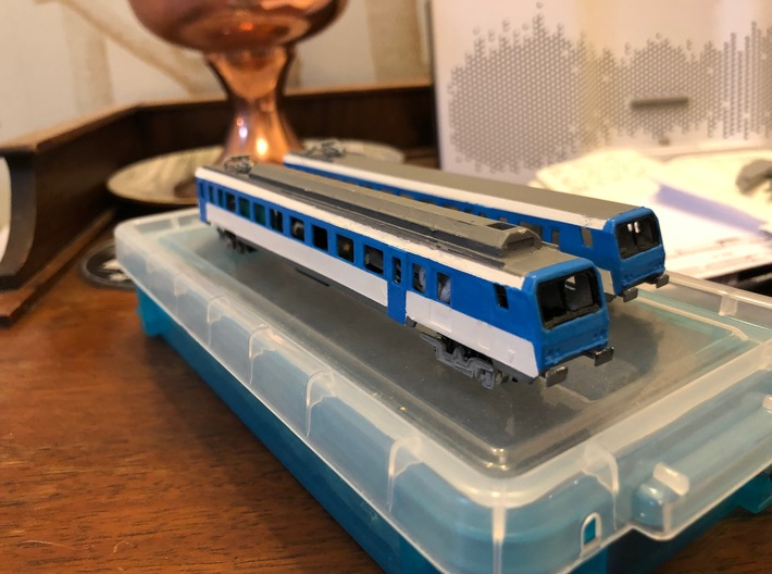 SNCF Z2 Automotrice 3d printed Test print example painted