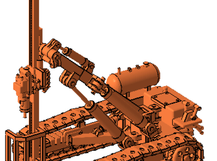 1/87th Ingersoll Rand type Tracked Rock Drill 3d printed