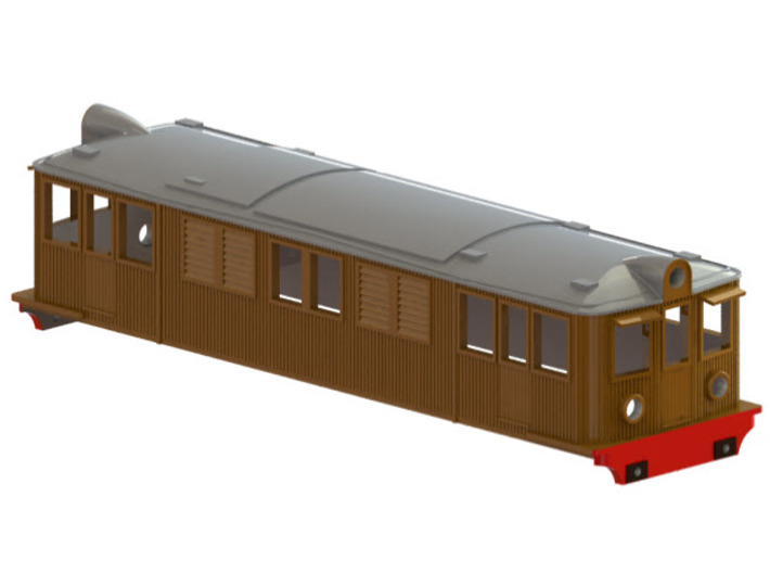 Swedish SJ electric locomotive type D - N-scale 3d printed CAD-model