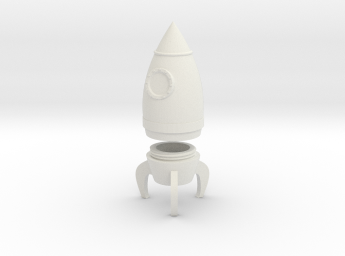 Rocket Container 3d printed
