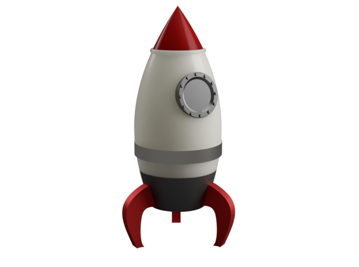 Rocket Container 3d printed This is a 3d render