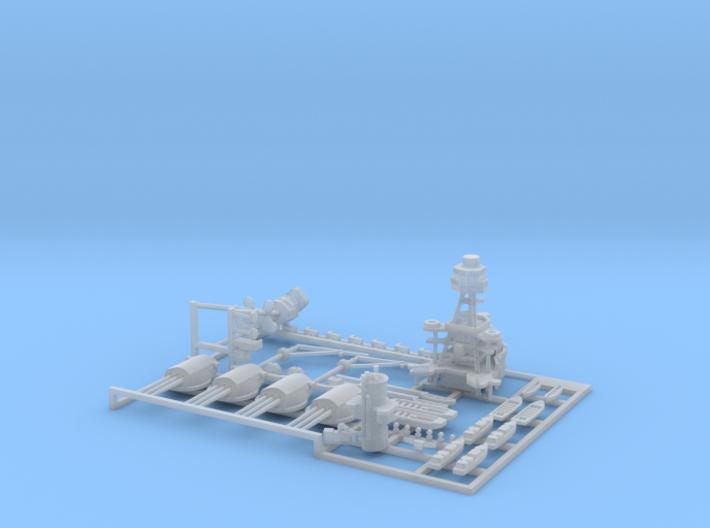 1/1200 USS Arizona Detail Set (NO BLAST BAGS) 3d printed
