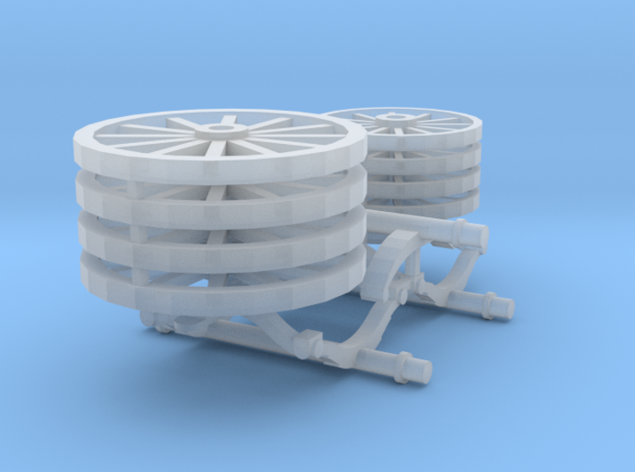 Steam Fire Engine HO Wheels Axles 3d printed