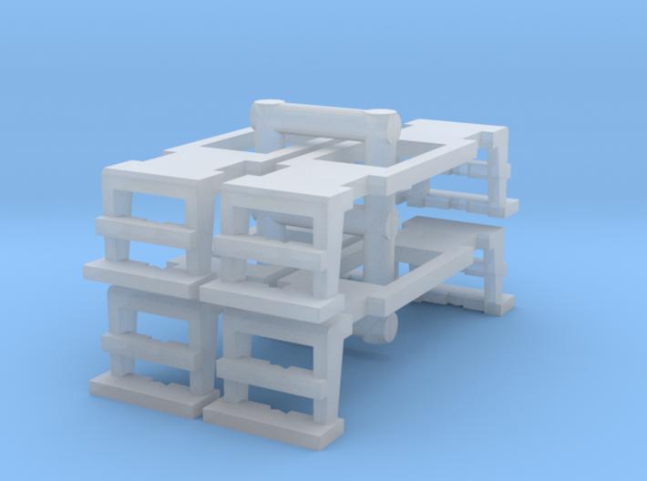 4 Bühnen mit Öffnung für Bremserhaus (N 1:160) 3d printed